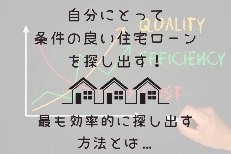 住宅ローンと審査:良い条件を、効率的に探す方法【5分で探す方法も…】